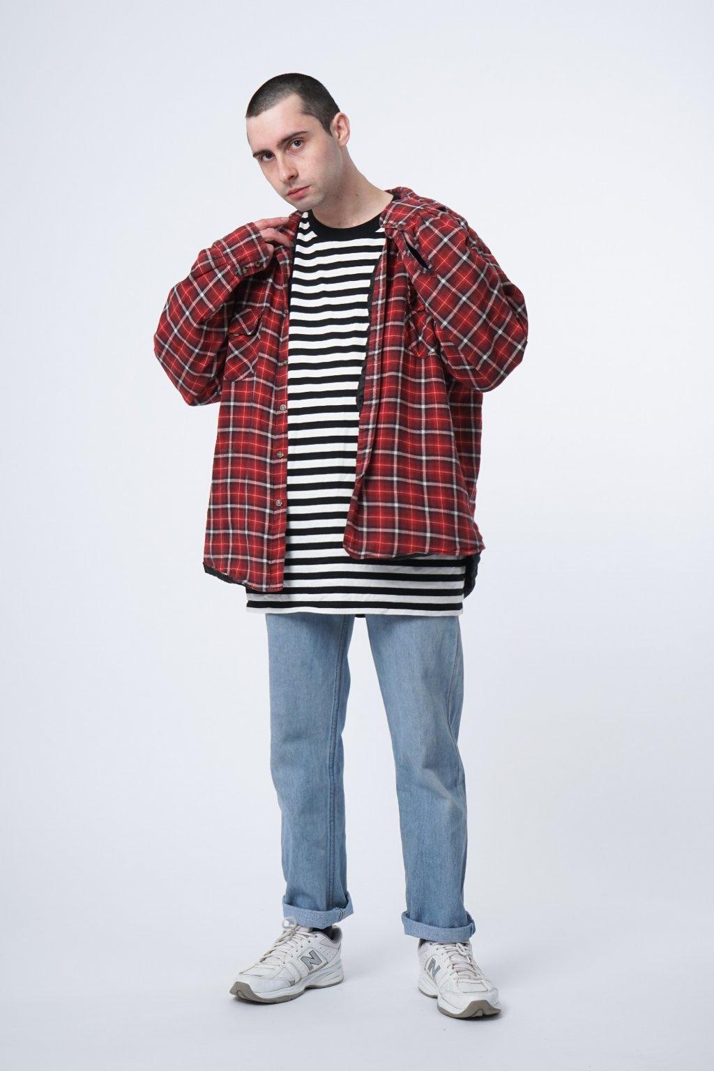 Checked warm shirt